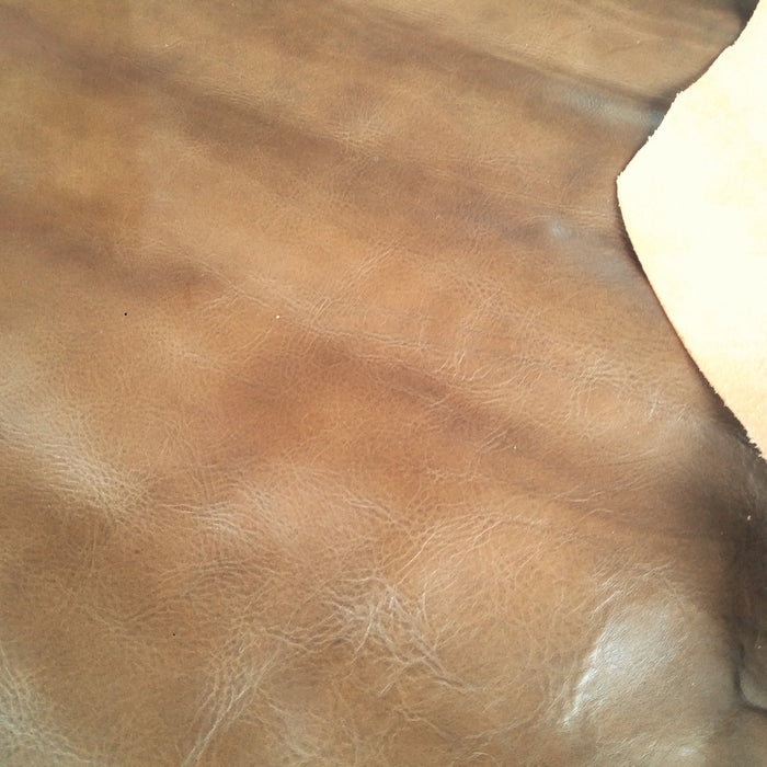 Olive Brown Scrap Leather Piece