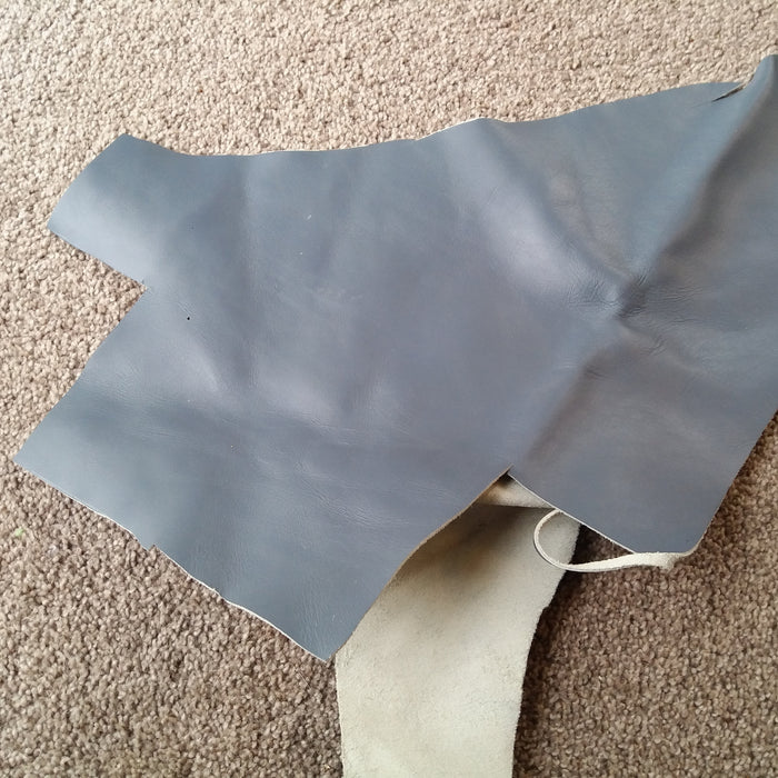 Grey Leather Piece