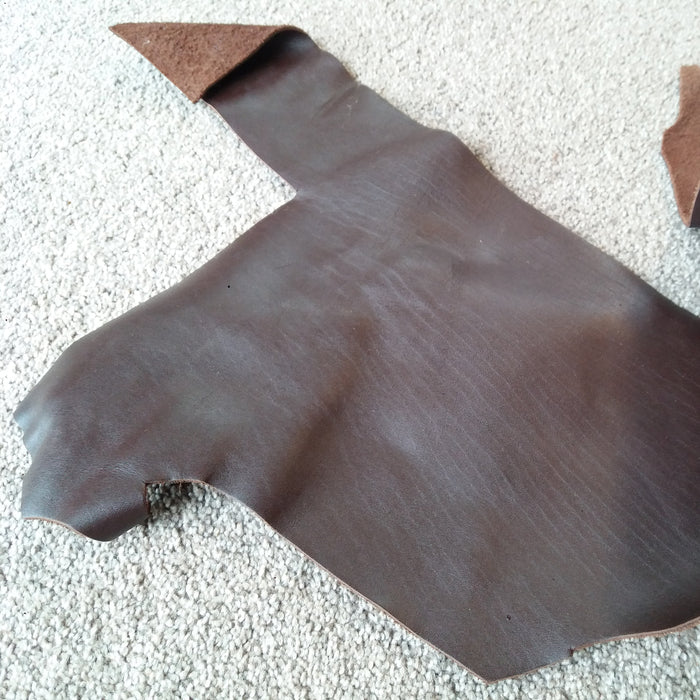 Dark Brown Scrap Leather Piece