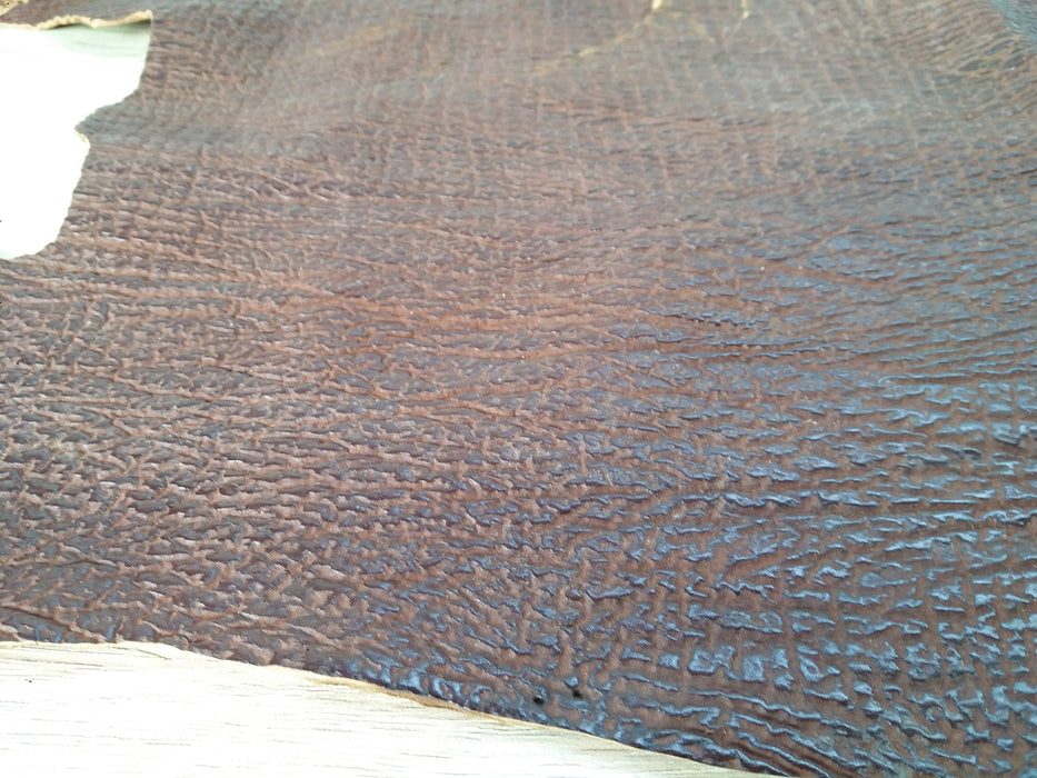 Textured Brown Scrap Leather Piece