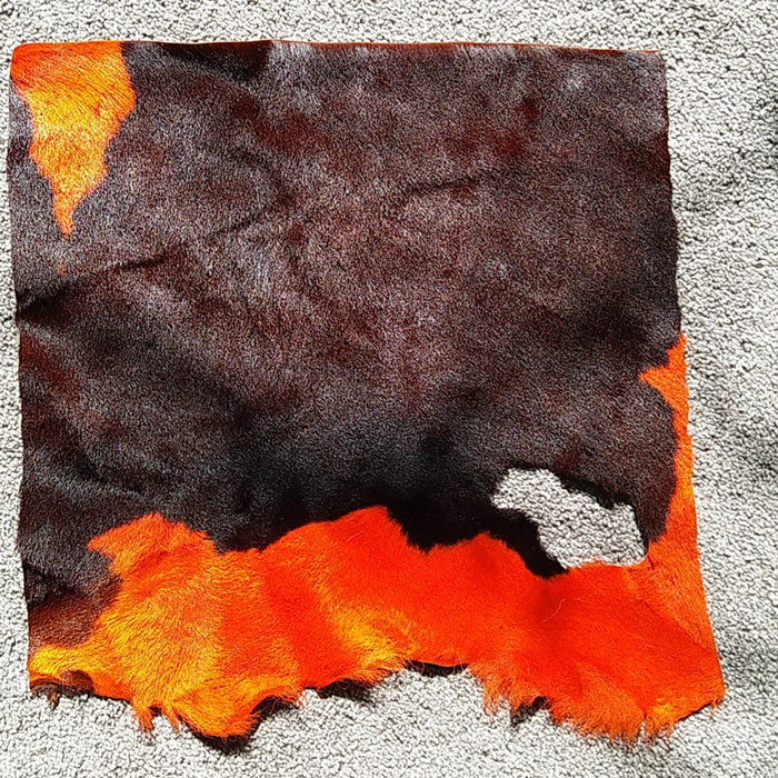 Cowhide Leather Piece - Orange