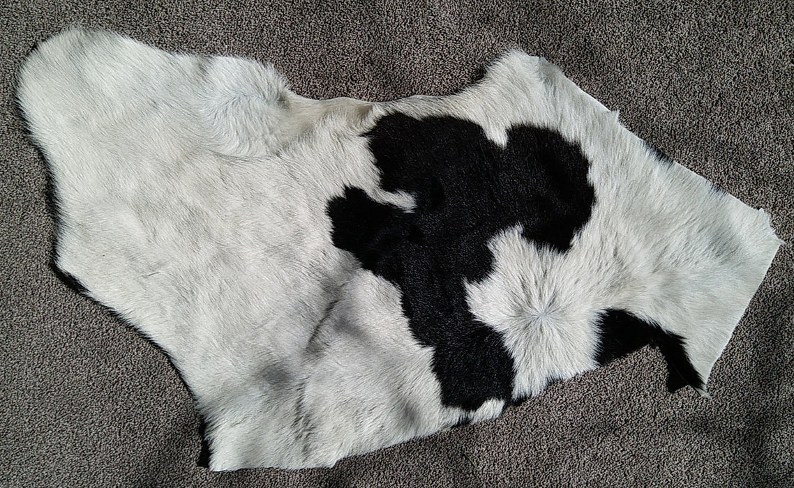 Cowhide Leather Piece - Black & White