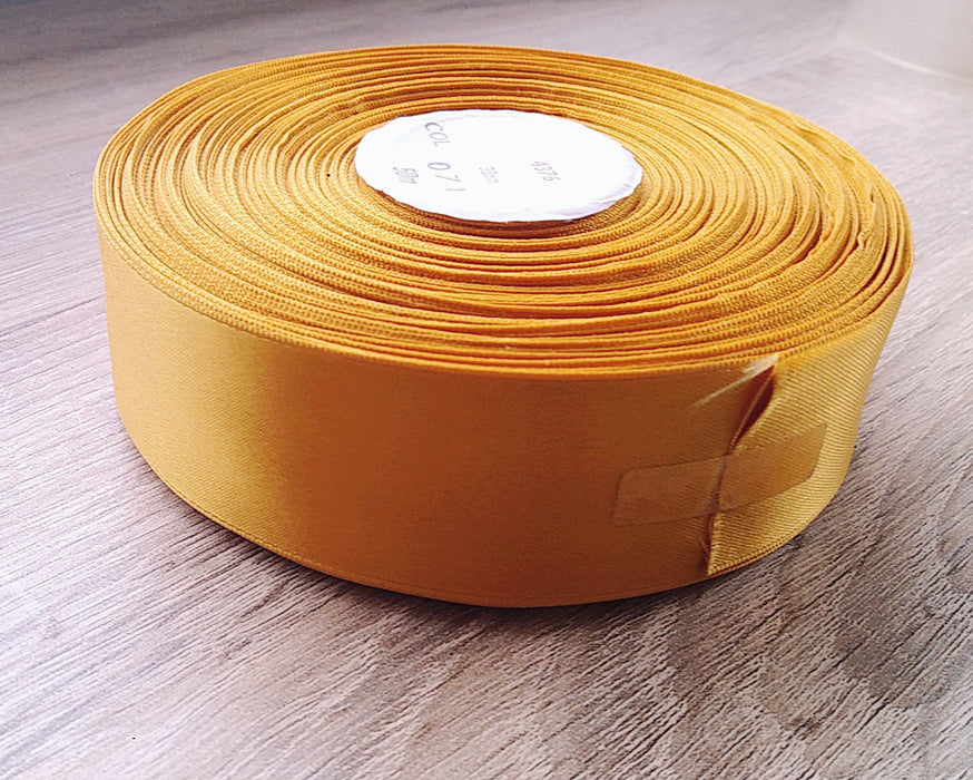 Ribbon- Gold Satin - 36mm wide - 50 meter roll