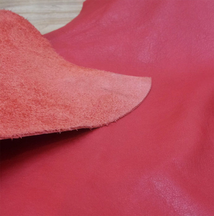 Red Scrap Leather Piece - 1.5mm