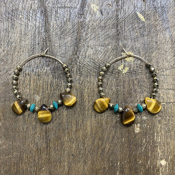 Earrings Tiger Eye