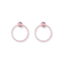 Load image into Gallery viewer, Earrings S with 2 Klics Glazed S in Rose Gold