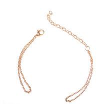 Load image into Gallery viewer, Chain bracelet with one Klic Glazed S in Gold