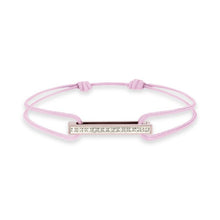 Load image into Gallery viewer, Cords bracelet with one Klic Diamond in Rose Gold