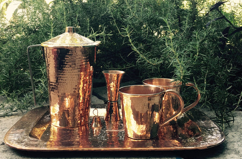 Father's Day Moscow Mule service set with Pitcher and Jigger