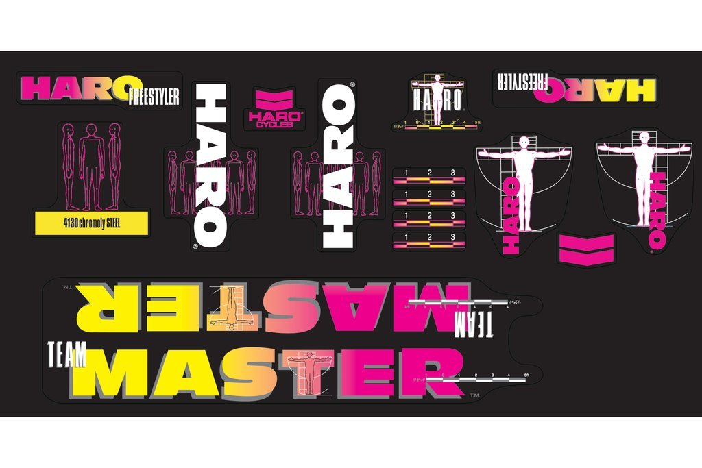Haro 1989 Decals Team Master