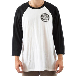 Fiend Reynolds V2 3/4 Sleeve T-Shirt - Black With White Sleeves