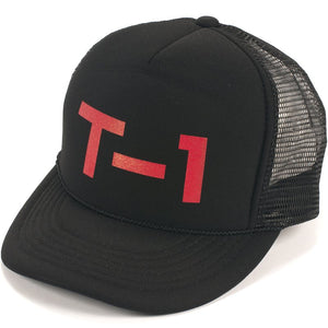 T1 Badge Mesh Cap Black