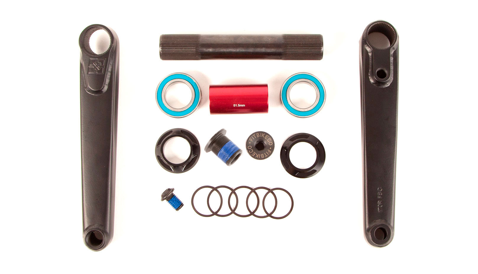 FIT Blunt 24mm Cranks 170mm Black