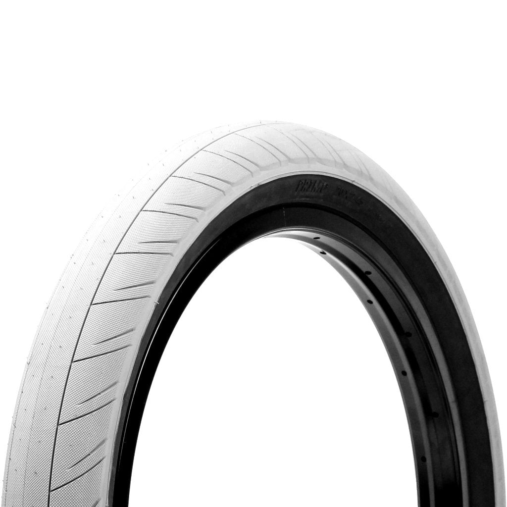 Primo Churchill Tyre - White With Black Sidewall 2.45""