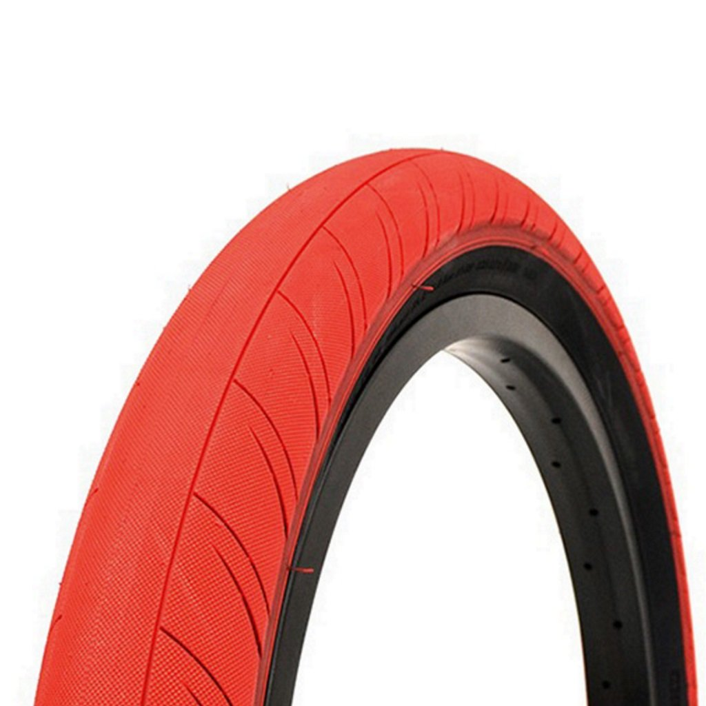Primo Churchill Tyre - Red With Black Sidewall 2.45""