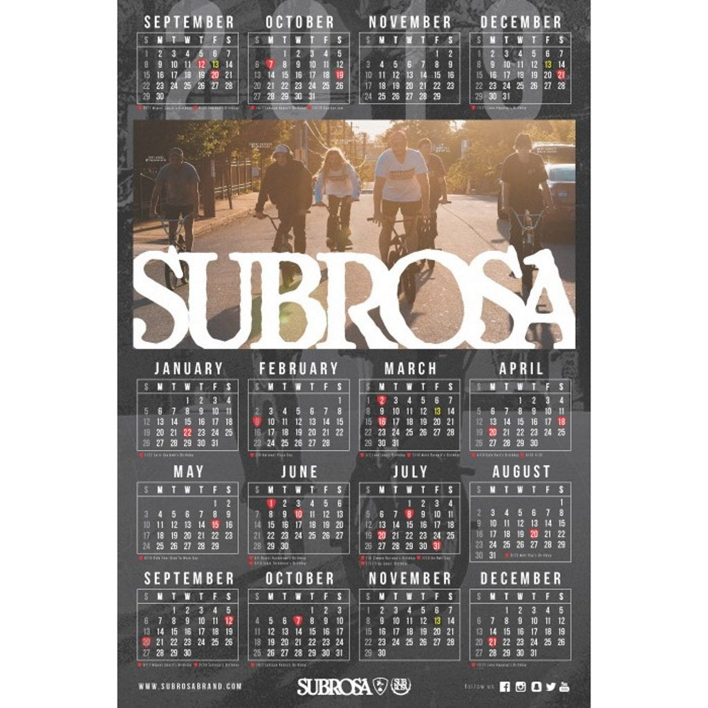 "Subrosa 2019 Double Sided Poster 26""x39"""