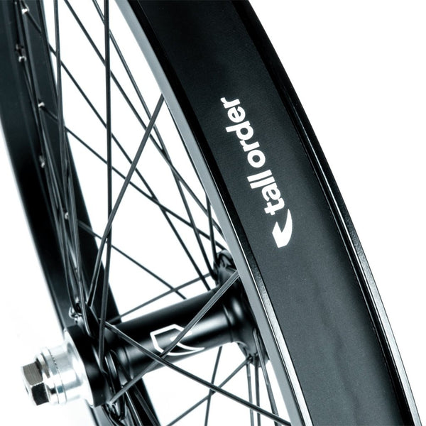 Tall Order Dynamics Front Wheel - Black with Silver Spoke Nipples