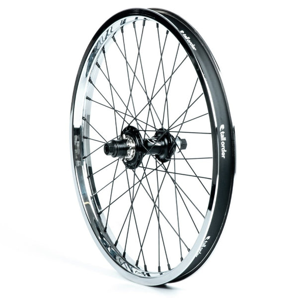 Tall Order Dynamics RHD Casette Wheel - Black With Chrome Rim 9 Tooth