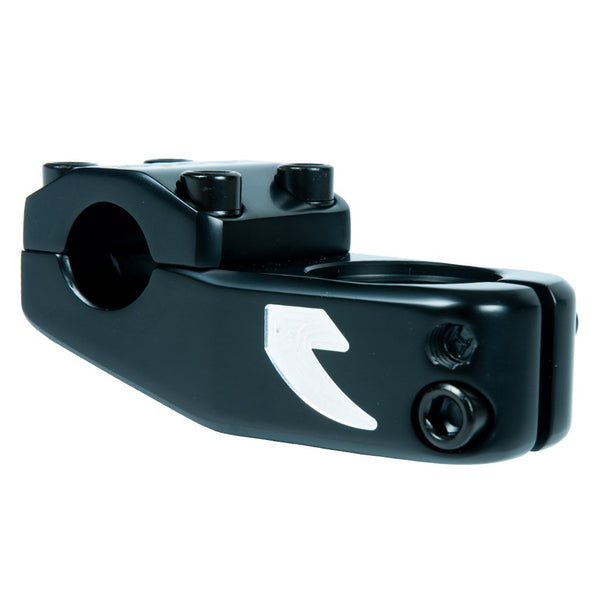 Tall Order Logo Stem - Black With Silver Logos 50mm Reach
