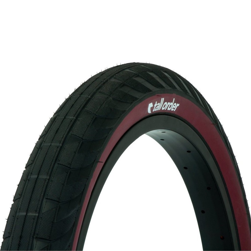 Tall Order Wallride Tyre - Black With Red Sidewall 2.30""
