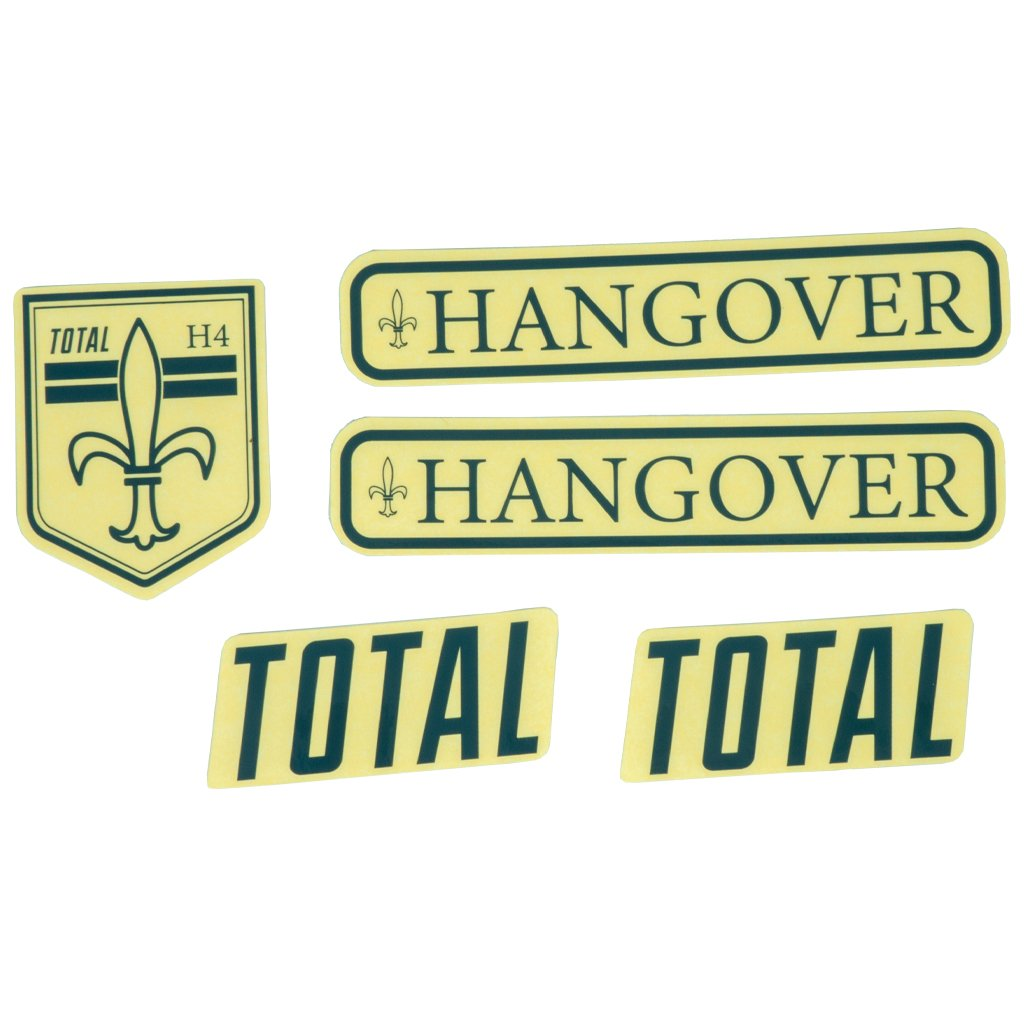 Total BMX Hangover H4 Frame Stickers - Grey