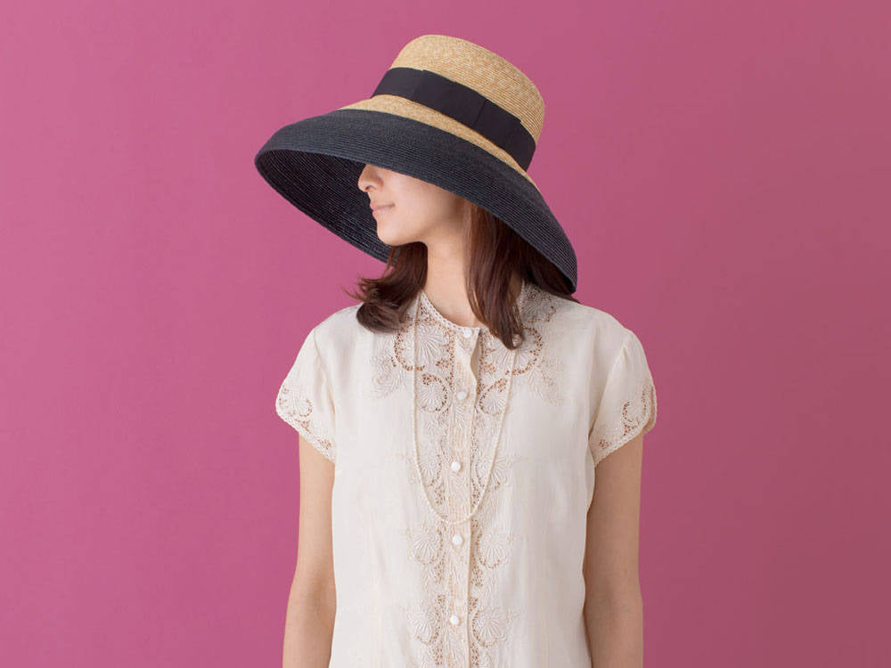 Two Tone Straw Hat Casablanca Style, Derby Hat