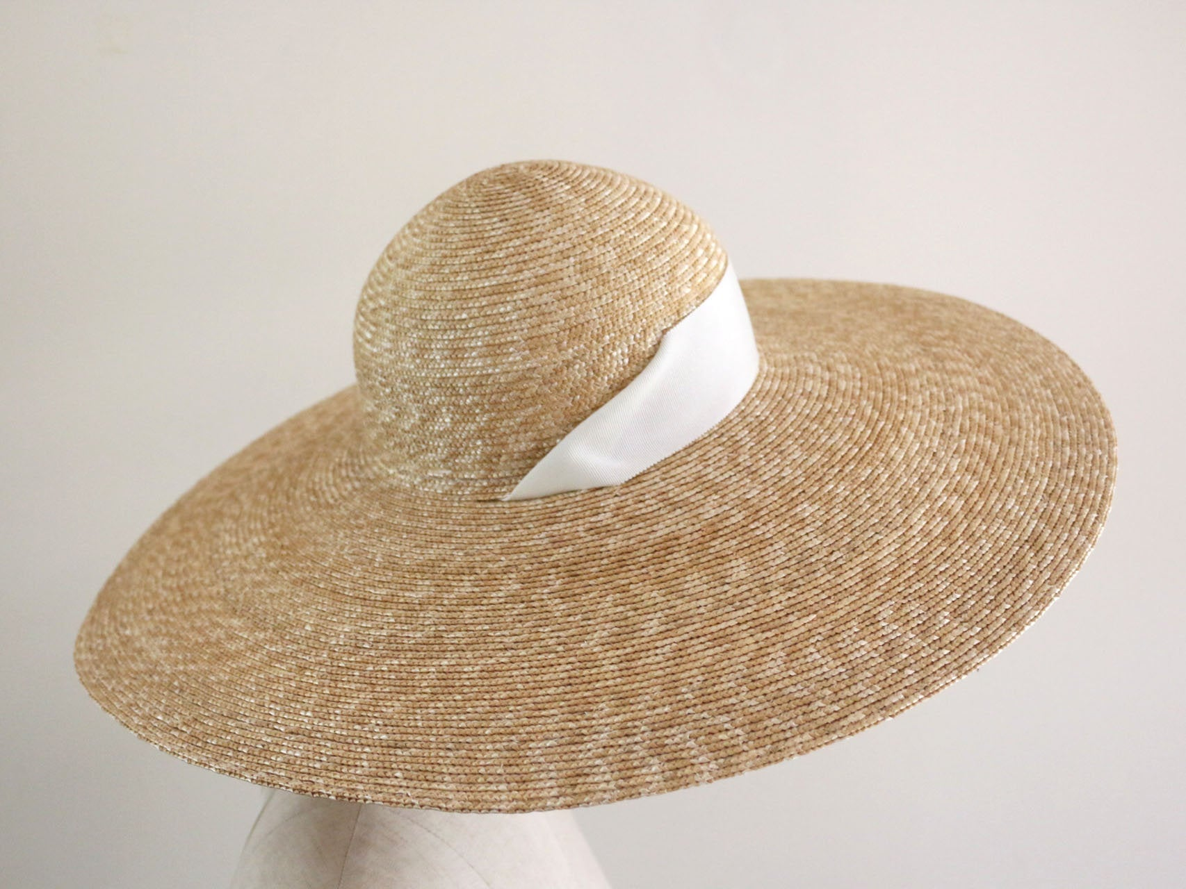 "wide brimmed straw hat ""Adeline Black"""