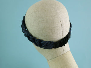 Navy x Black Swiss Millinery Braided Headband