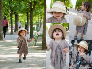 "Kid's straw hat for summer  ""Ramona"""