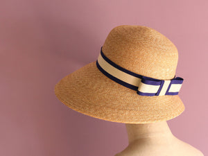 "Wide Brim Straw Hat ""Nautical Cecil"""