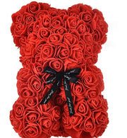 Hot Selling Small  25 cm Flower Lover Valentine Gift Teddy Foam PE Rose Bear (Red)