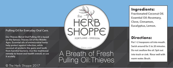 A Breath of Fresh, Pulling Oil: Thieves Blend 4oz