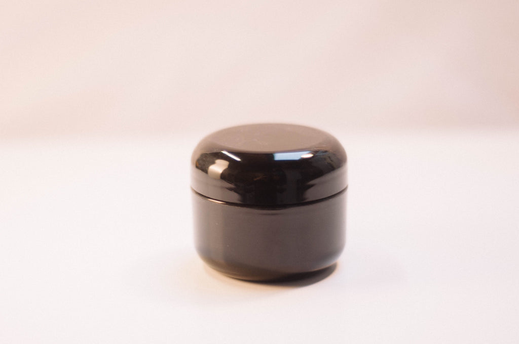 Black 1oz Jar Plastic