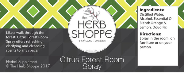 Citrus Forest Room Spray 4oz