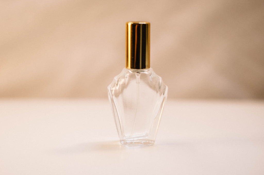 Clear 15ml Flair Perfume Bottle Spray Gold Lid