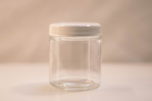 Clear 4oz Jar White Lid