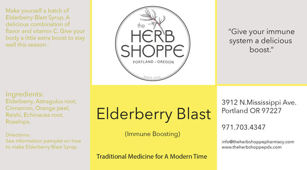 Elderberry Blast Syrup Shot & 4oz