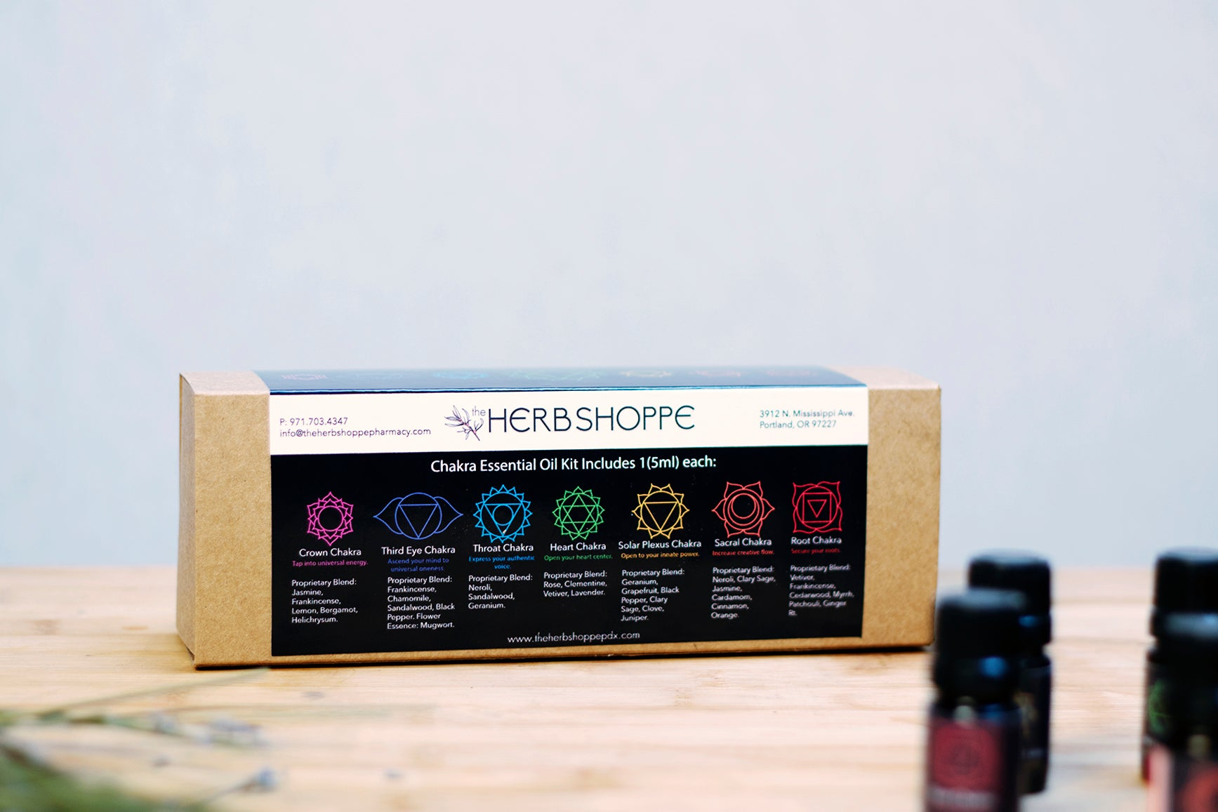 THS Chakra Essential Oil Blend Kit-(Set of 7, 5ml)