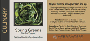 Spring greens  Sipping Vinegar 2oz