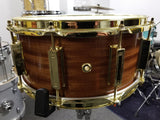 "WFLIII 1728N Series Mahogany Snare Drum - 6.5"" x 14"" Satin with Brass Hardware Made in USA"