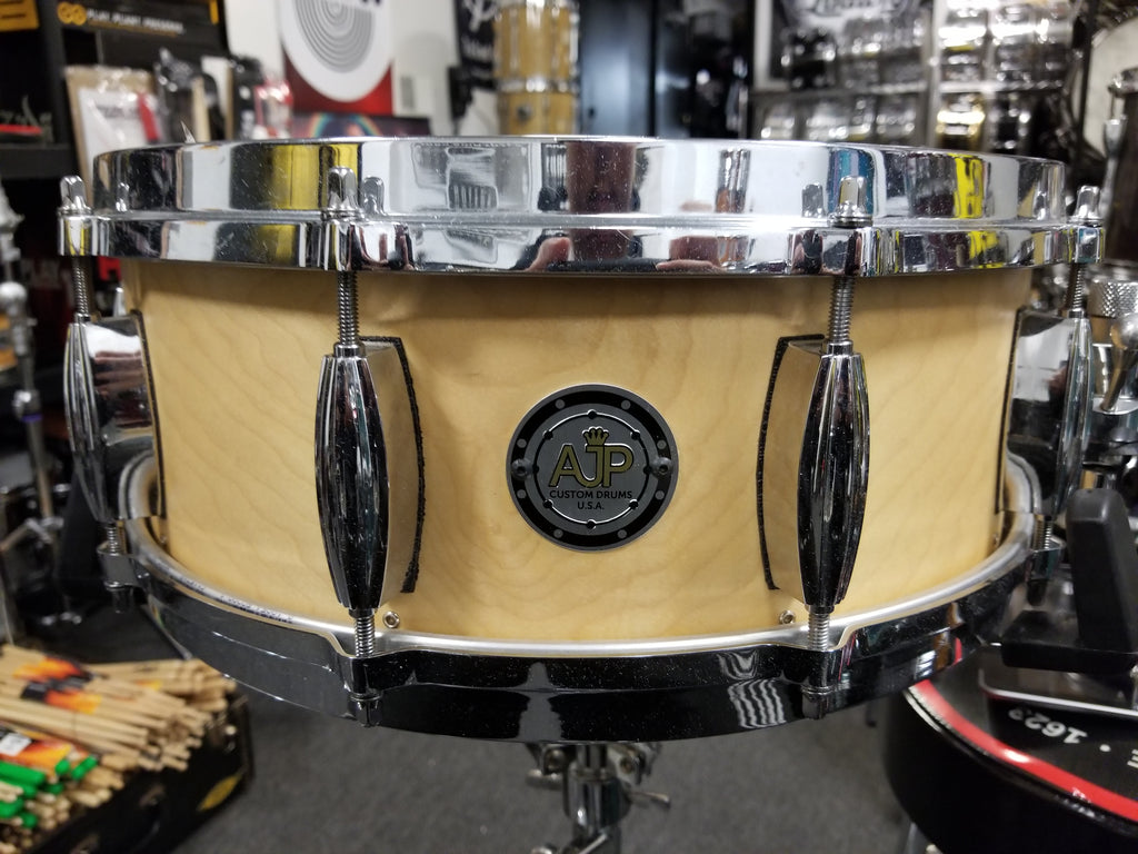 used mint ajp custom snare drum 14x5 5 made in usa 247drums. Black Bedroom Furniture Sets. Home Design Ideas
