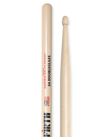 Vic Firth American Classic DoubleGlaze drum sticks: For Dry Hands 5A - 12 pairs for 109.99 ($86.00 savings) with a free pack of Moon Gels!
