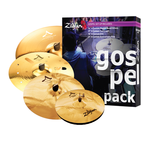 "Zildjian GOSPEL Cymbals Set for Drums - Free 18"" A Custom EFX+ Choose: Heads, Sticks, Tunebot, Headphone-Kickport! DEAL AC0801G"