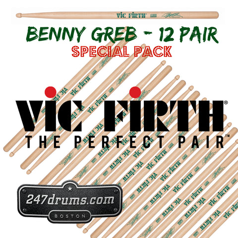 Vic Firth drum sticks - Benny Greb signature model SBG - 12 pairs for $119.99 (save $103.00)