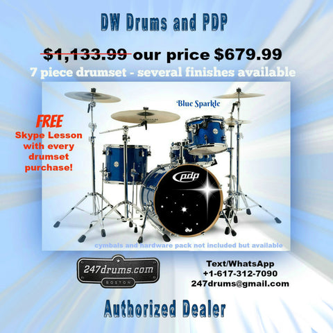 PDP - 4 piece drum set - Sparkle Blue