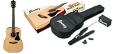 Ibanez IJV50 Jumpstart Acoustic Guitar Package - (EXTRA electronic tuner, gig bag, guitar strap, and an accessory pouch).