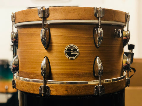 Erie Drum Co. Mahogany 14x8 Snare Drum w/ Wood hoops - Used
