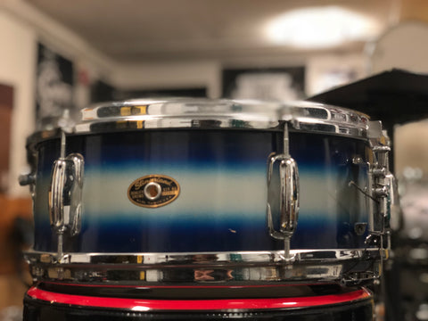 Slingerland (60's)  Student Model Maple Snare Drum 14x5.5  - Blue/Silver Duco - 6 lug
