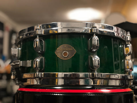 Tama Starclassic Maple Snare Drum - 14x5.5 - Green Lacquer (Used)