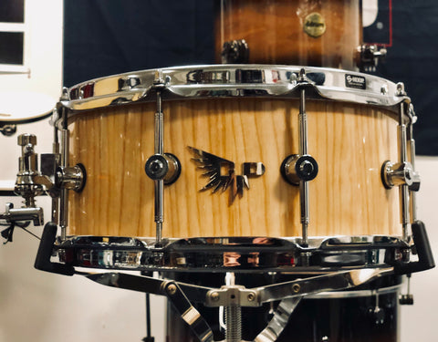 Hendrix Archetype ASH Stave Snare Drum - 14x6 - Gloss Natural - (Used)